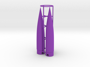 Classic estes-style nose cone BNC-5W x 3 in Purple Strong & Flexible Polished