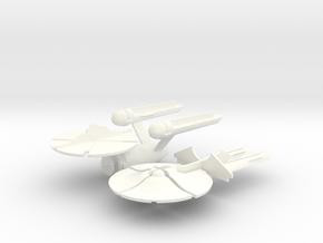 Star Trek Panic! - Enterprise in White Processed Versatile Plastic