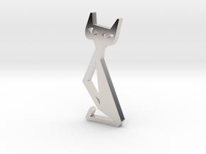 Cat Pendant Art 19-05-39 in Platinum