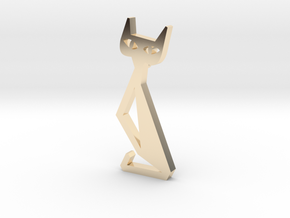 Cat Pendant Art 19-05-39 in 14k Gold Plated
