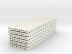 'N Scale' - (6) Precast Panel - Ribbed - 30'x10'x1 in White Strong & Flexible