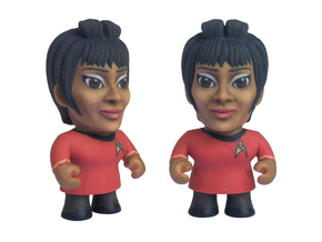 Uhura Star Trek Caricature in Full Color Sandstone
