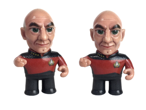 Picard Star Trek Caricature in Glossy Full Color Sandstone