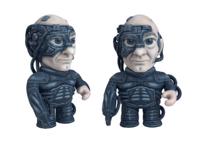 Locutus Star Trek Caricature in Full Color Sandstone