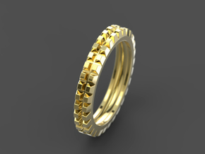 "Stackable ""Deux"" Ring in 14K Yellow Gold: 6 / 51.5"