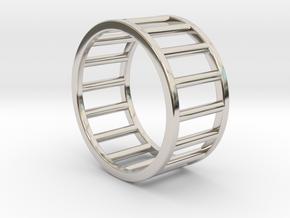 Albaro Ring- Size,8 in Rhodium Plated Brass