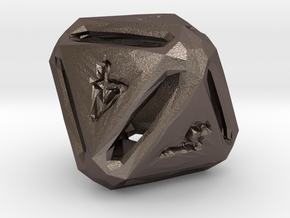 Rough Poly D8 in Polished Bronzed Silver Steel