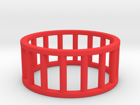 Albaro Ring- Size- 10 in Red Processed Versatile Plastic