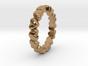"Stackable ""Throbs"" Ring in Polished Brass: 4.5 / 47.75"