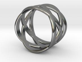 Twin Orbit in Polished Silver