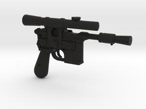 1/6 scale DL44 Blaster Pistol Blaster in Black Natural Versatile Plastic