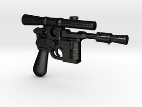 1/6 scale DL44 Blaster Pistol Blaster in Matte Black Steel