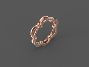 "Stackable ""Kinetic"" Ring in 14k Rose Gold: 6 / 51.5"