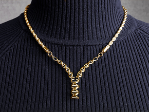 Replicating DNA Pendant in 14k Gold Plated