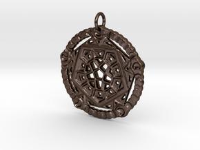 Mandala No. 14 in Polished Bronze Steel