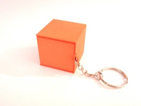 """Box for small """"SOMA cube"""" (please see the product) in Orange Processed Versatile Plastic"""