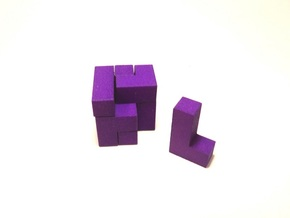 Small SOMA cube fits in the Box, which is connecta in Purple Strong & Flexible Polished