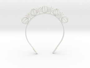 Sphere headband in White Strong & Flexible