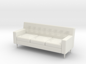 Couch in White Natural Versatile Plastic: Small