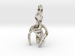 Lady's Slipper Orchid Pendant - Nature Jewelry in Platinum