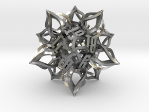 'Kaladesh' D20 Spindown Life Counter in Natural Silver