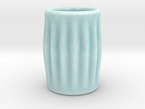 DRAW shot glass - feeling groovy in Gloss Celadon Green Porcelain