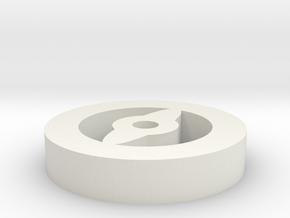 Focus Token in White Natural Versatile Plastic