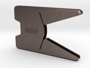 "Sliminal ""Sleek"" (6 Cards) in Polished Bronzed Silver Steel"