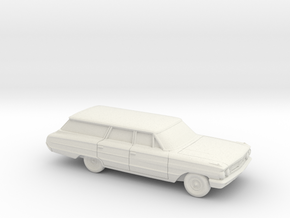 1/87 1964 Ford Galaxie Station Wagon in White Natural Versatile Plastic
