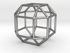 """Rhombicuboctahedron 1.3"""" in Natural Silver"""