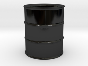Oil Barrel Espresso Cup in Gloss Black Porcelain