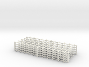 Rebar Grid 4 Feet x 10 Feet 1-87 HO Scale  in White Natural Versatile Plastic