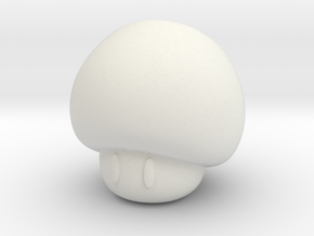 Mushroom in White Natural Versatile Plastic