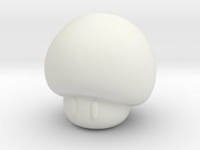 Mushroom in White Natural Versatile Plastic