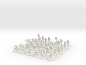 4 Squads of Modern Russian Infantry  20mm  in White Natural Versatile Plastic