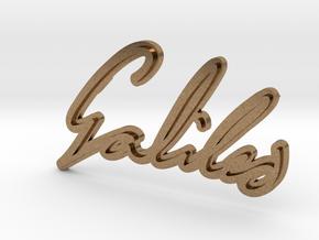 Galileo Galilei Pendant in Natural Brass