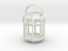 Lantern Octagon Oriental: Miniature  in White Natural Versatile Plastic