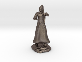 D&D Unarmed Bladeling Monk Mini in Polished Bronzed Silver Steel