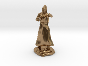 D&D Unarmed Bladeling Monk Mini in Natural Brass