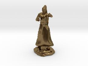 D&D Unarmed Bladeling Monk Mini in Natural Bronze