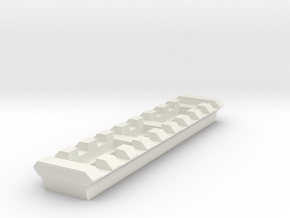 9 Slots Rail (Pre-Drilled) in White Natural Versatile Plastic