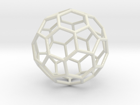 0024 Fullerene c60-ih Bonds/Truncated icosahedron in Glossy Full Color Sandstone