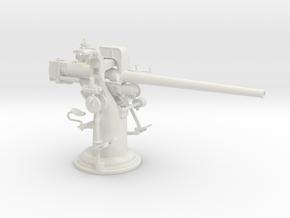 1/24 USN 3 inch 50 [7.62 Cm] Deck Gun in White Natural Versatile Plastic