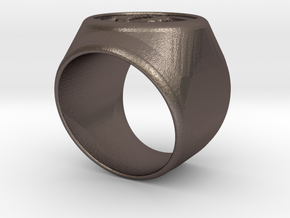 Riga signet Ring 16.5mm diameter in Stainless Steel
