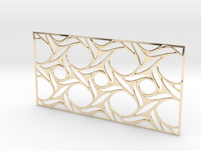Screen design31 in 14k Gold Plated Brass