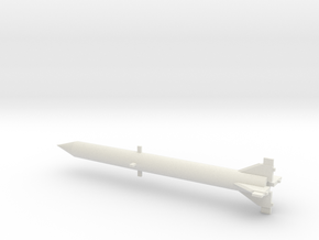 1/144 Scale Redstone Missile in White Natural Versatile Plastic