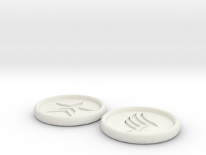 Renegade Paragon Buttons 3 inch in White Natural Versatile Plastic