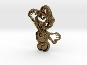 Paper Luigi in Natural Bronze