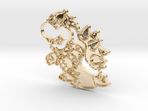 Paper Bowser in 14K Yellow Gold