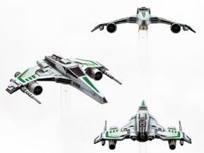 E-Wing Variant - Dual Cannon 3pack in Frosted Extreme Detail